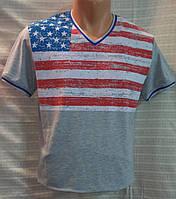 Футболка Valimark biz американский флаг серая р.XL(50)