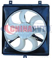 Вентилятор радиатора правый (на 3 крепления) Geely MK МК-2 / MK Cross Джили МК2 Кросс 1016003508