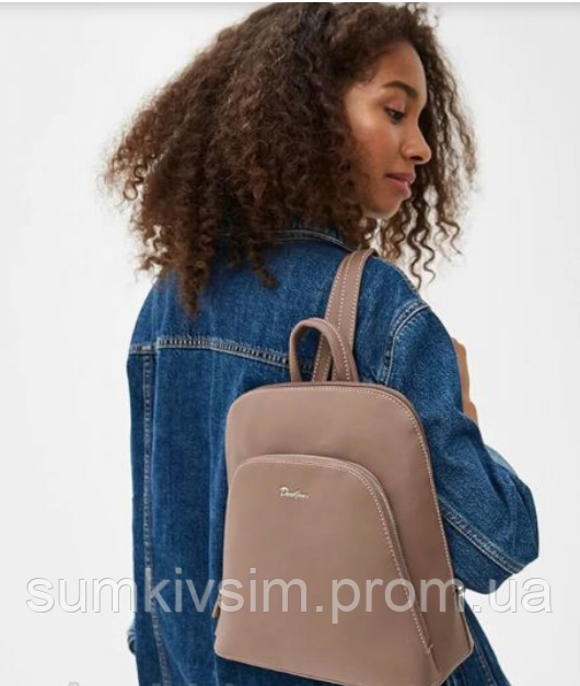 Рюкзак женский темно-розового цвета DAVID JONES 5300