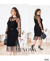 Нарядное женское платье №284-черный,размер 46,48,50