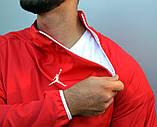 Мужской весенний Анорак (ветровка) Jordan красный о, фото 2