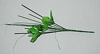 М-25 Ножка с листьями маленькая на 7 голов 35см