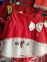 Гарна юбка на дівчинку з вишивкою