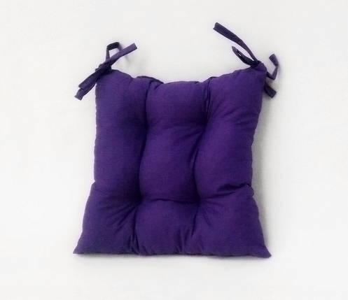 Подушка на стул фиолетовая Gold  40*40 см подушка для стула табурета, фото 2