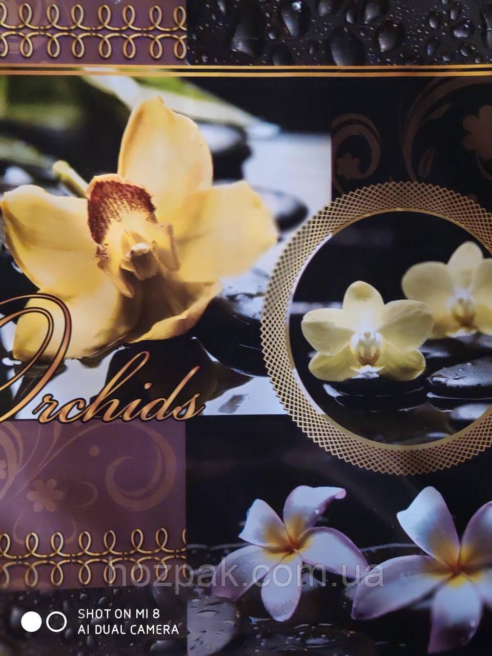 """Пакет с пластиковой ручкой 36х37 10шт. """" Орхидея  """""""