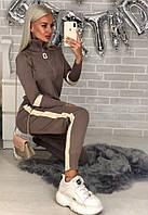 Костюм спортивный женский чёрный, бежевый, пудра, фото 1