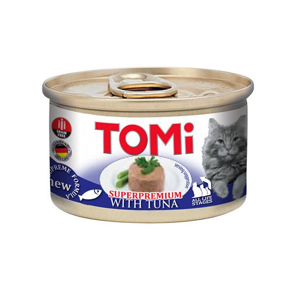 Консервы для кошек с тунцом мусс ТОМИ ТУНЕЦ TOMi Tuna 85 г