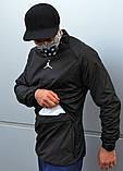 Мужской весенний Анорак (ветровка) Jordan черный о, фото 6