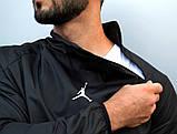 Мужской весенний Анорак (ветровка) Jordan черный о, фото 2