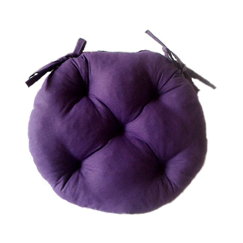 Подушка на стул круглая фиолетовая 40*40 см подушка для стула табурета