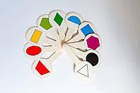 Віяло геометричні фігури та кольори