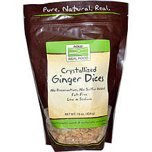 "Засахаренные кусочки имбиря NOW Foods, Real Food ""Crystallized Ginger Slices"" (454 г)"