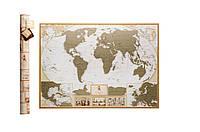 🔝 Скретч карта мира, My Map Antique edition, карта путешествий, ENG, Ігри, сувеніри, подарунки, товари для дітей, Игры, сувениры, подарки, товары для