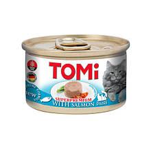 Консервы для кошек с лосось мусс ТОМИ ЛОСОСЬ TOMi Salmon 85 г