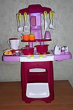 Дитяча ігрова кухня 2728 L посуд, звук, світло, на батар., Тече водичка 24 предмета 45 × 21.5 × 62 см