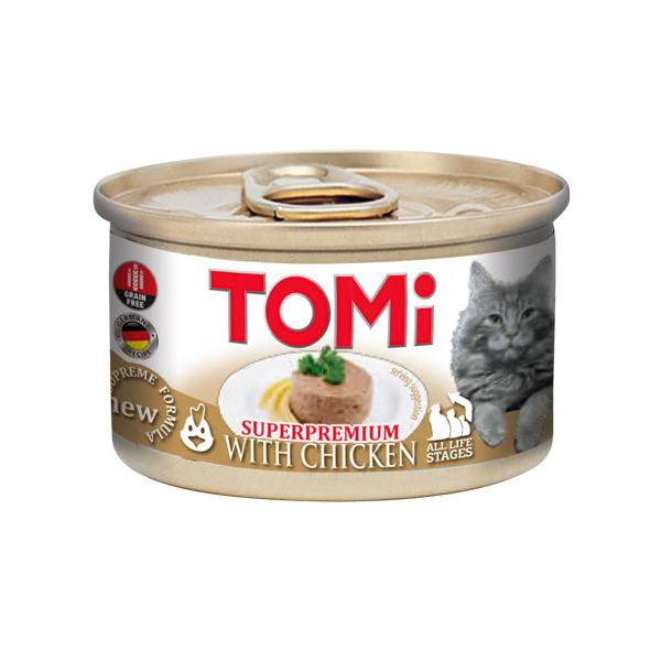 Консерви для кішок з куркою мус ТОМІ КУРКА TOMi Chicken 85 г
