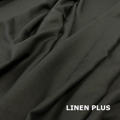 Чорна лляна тканина 100% льон колір 147