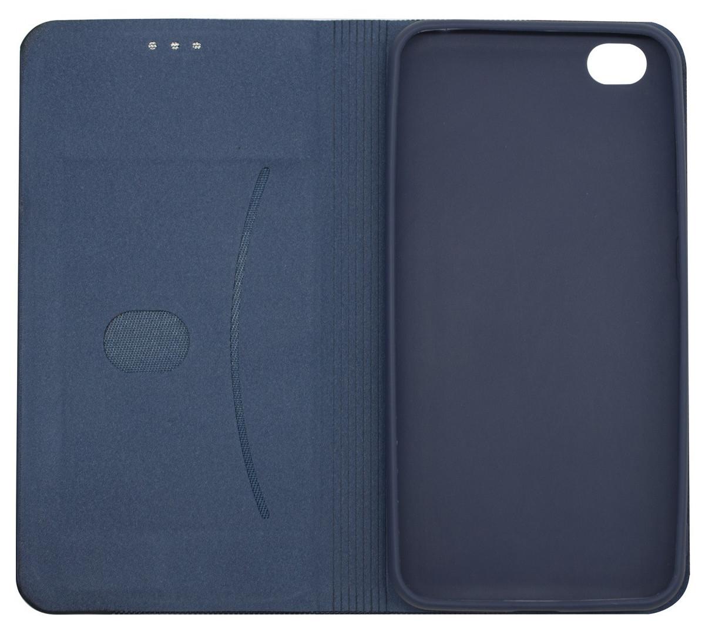 Чехол книжка DEF для Xiaomi Redmi GO Fabric PU Синий (491256)