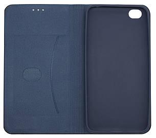 Чехол книжка DEF для Xiaomi Redmi GO Fabric PU Синий (491256), фото 2