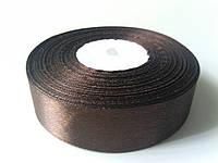Лента атлас 25мм шоколад метр