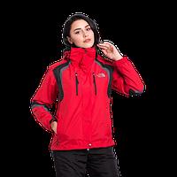 Женская горнолыжная куртка The North Face (3в1) 8193-12 красная