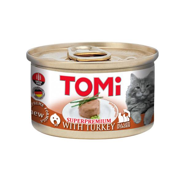 Консерви для кішок з індичкою мус ТОМІ ІНДИЧКА TOMi Turkey 85 г