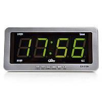 🔝 Автомобильные электронные настенно-настольные светодиодные часы Caixing CX-2159 - серебристый корпус, Електронні настільні годинники, Электронные