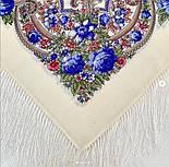 Милий друг 1345-4, павлопосадский вовняну хустку з шовковою бахромою, фото 4