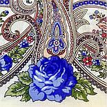 Милий друг 1345-4, павлопосадский вовняну хустку з шовковою бахромою, фото 2