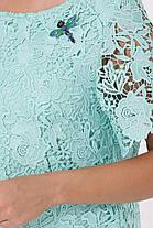 Роскошное кружевное платье Элен цвет Мятная роза Размеры 1 (идет на  52,54) и 2 (56,58), фото 3