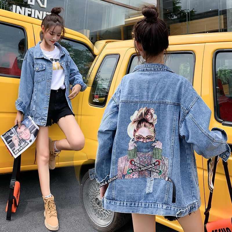 Женская джинсовая куртка Arthur & Percival с принтом и лентами голубая