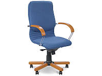 Крісло для керівника Nova wood LB chrome / Кресло для руководителя Nova wood LB chrome