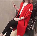 Кардиган женский мелкая вязка красный чёрный бежевый, фото 3