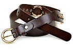 Женский кожаный ремень 2096 coffee коричневый
