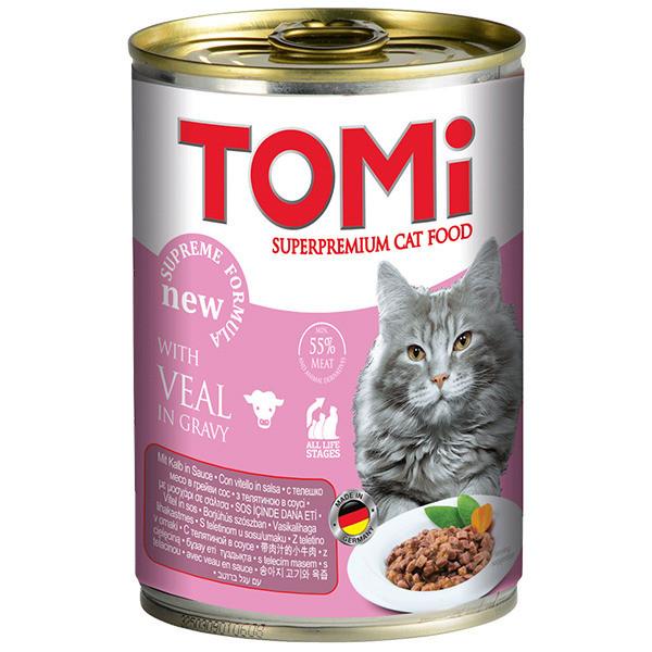 Консервы для кошек с телятиной TOMi 400 г