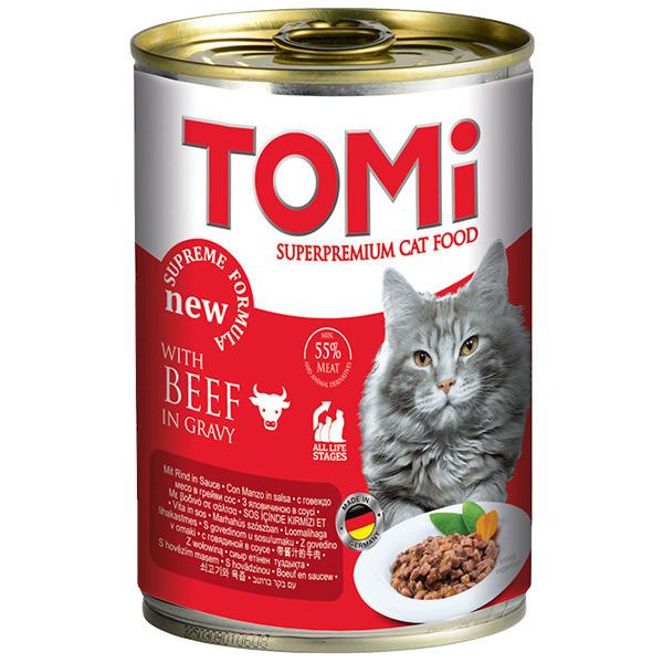 Консервы для кошек с говядиной TOMi 400 г