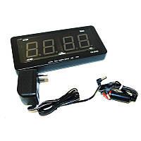 🔝 Автомобильные электронные настенно-настольные светодиодные часы Caixing CX 2159 - чёрный корпус, Електронні настільні годинники, Электронные