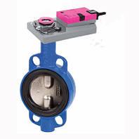 Задвижка Баттерфляй ДУ150 регулируемая поворотная, чугунный диск, (EPDM) под электропривод