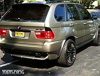 Накладка заднего бампера BMW X5 e53 под 4.8is