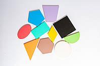 Геометричні фігури фарбовані 10 шт., фото 1