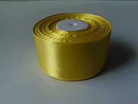 Лента атласная желтая 50 мм бобина 23 м