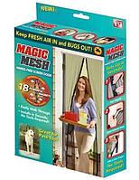 Антимоскитная шторка сетка на магнитах Magic Mesh
