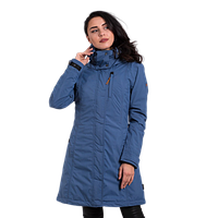 Женская демисезонная куртка Camel Active (3 в 1) 310262-46 длинная голубая