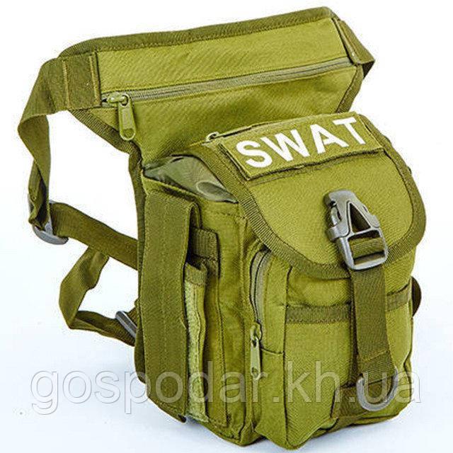 Сумка тактическая на бедро SWAT (олива)