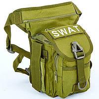 Сумка тактическая на бедро SWAT (олива), фото 1