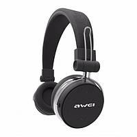 🔝 Беспроводные / проводные накладные блютус наушники, AWEI (MDR A700BL) наушники для телефона - Черные | 🎁%🚚