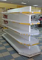 Двухсторонние торговые стеллажи бу гондолы, фото 1