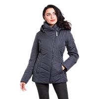 Женская куртка осенняя Finn Flare A 16-11013 удлиненная тёмно-синяя