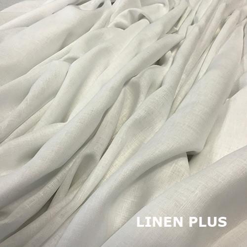 Белая натуральная льняная ткань, 100% лен, цвет 101