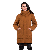 Женская зимняя куртка Finn Flare W 16-170030 длинная коричневая